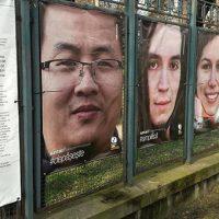 Expoziție foto pe gardul Parcului Botanic