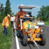 CNAIR a recepționat șapte mașini de marcaj rutier, una a ajuns la Timișoara