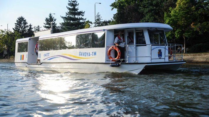 Cele șapte vaporașe ale Societății de Transport Public Timișoara vor andoca pe platforma special amenajată în depoul Dâmbovița