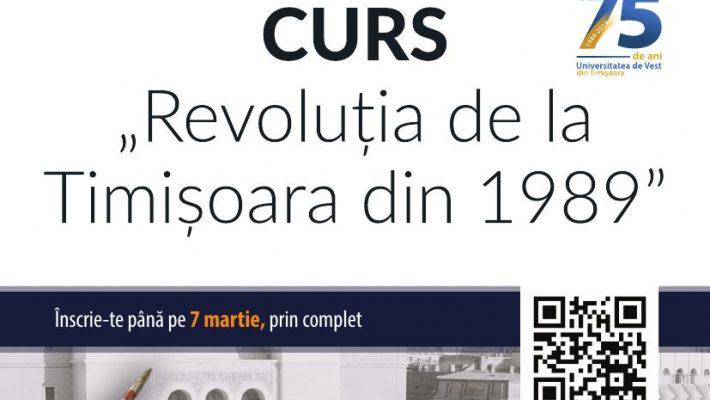 """Înscrieri la cursul """"Revoluția de la Timișoara din 1989"""" până în 7 martie"""