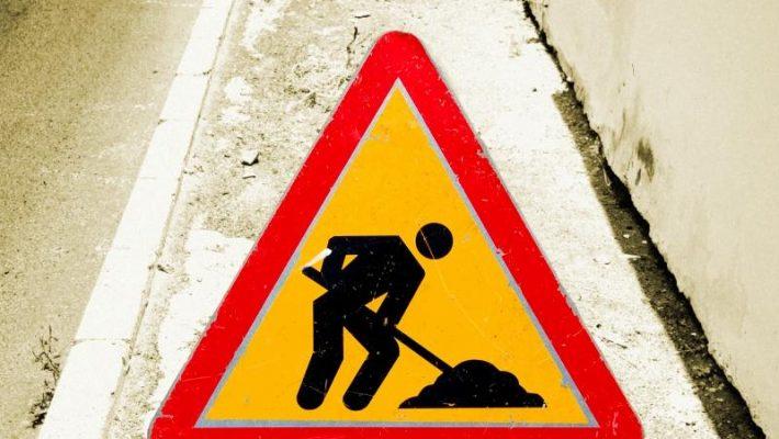Lucrări de reparații pe Calea Martirilor