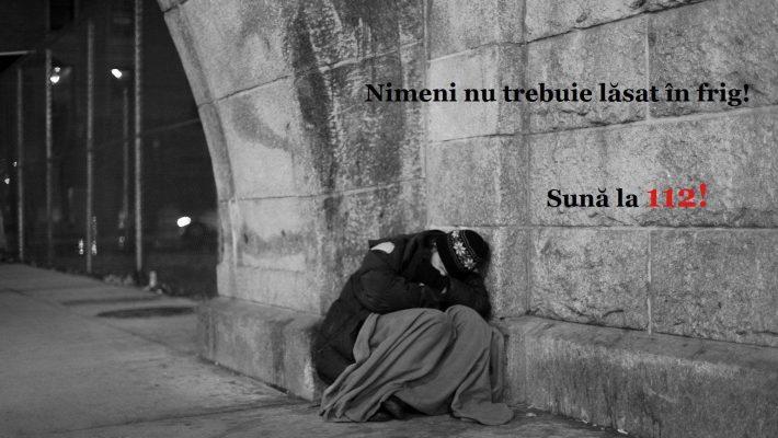 I.S.U. Timiș: sunați la 112 dacă vedeți persoane fără adăpost pe stradă!