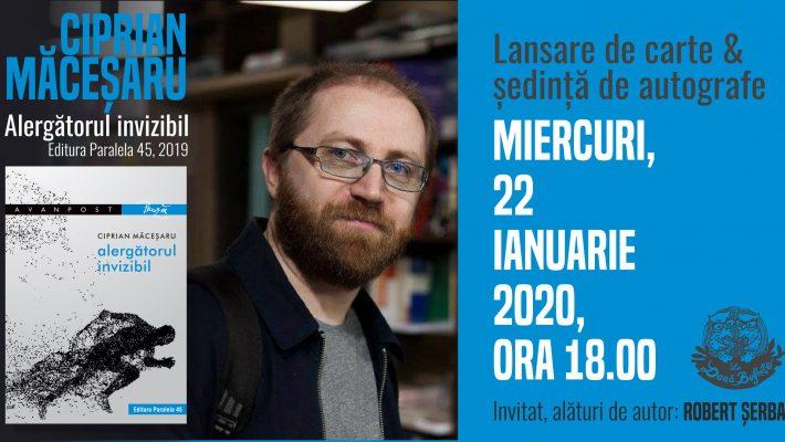 """Scriitorul Ciprian Măceșaru lansează """"Alergătorul invizibil"""" la Timișoara"""