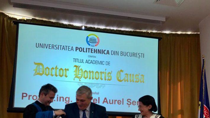 Rectorul UPT, Doctor Honoris Causa al Universității Politehnica din București