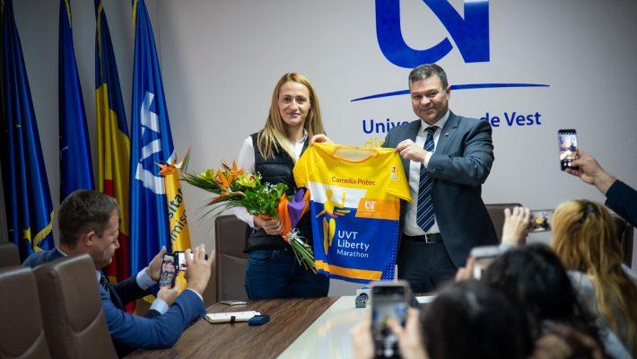 Noul Ambasador UVT Liberty Marathon 2020 este Camelia Potec